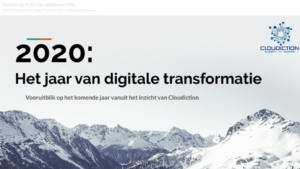 eBook et jaar 2020. digitale transformatie
